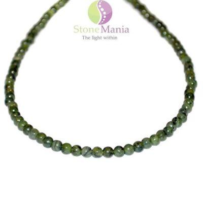 colier nefrit jad 4mm w Povestea bijuteriilor și cristalele potrivite personalității mele