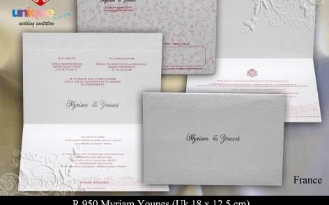 wedding card Myriam-Younes