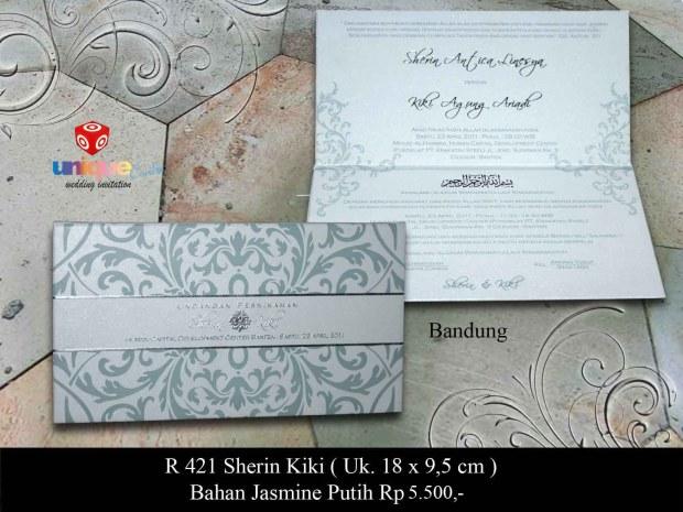 undangan pernikahan Sherin Kiki