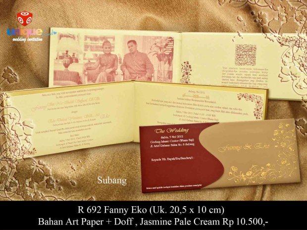 undangan pernikahan Fanny Eko