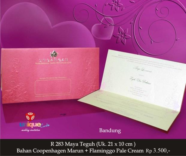 undangan pernikahan Maya Teguh