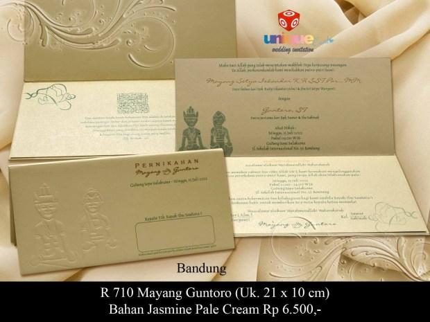 undangan pernikahan Mayang Guntoro