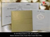 undangan pernikahan Mutia Edwin