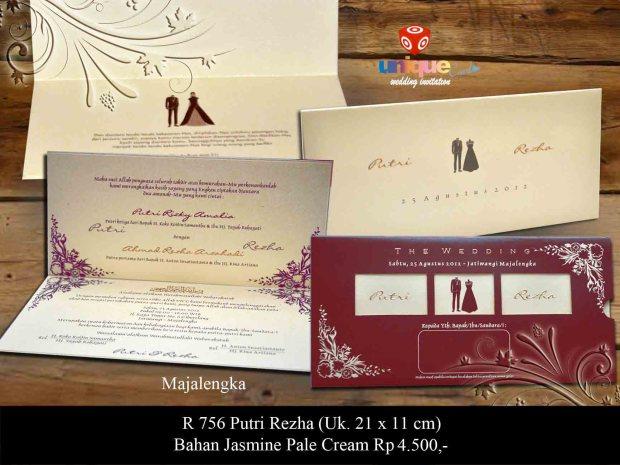 undangan pernikahan Putri Rezha