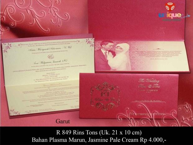 undangan pernikahan Rins Tons