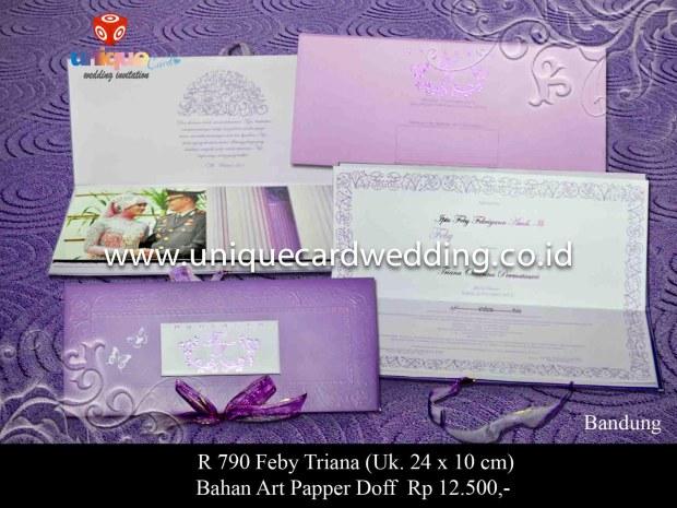 kartu undangan pernikahan Feby Triana