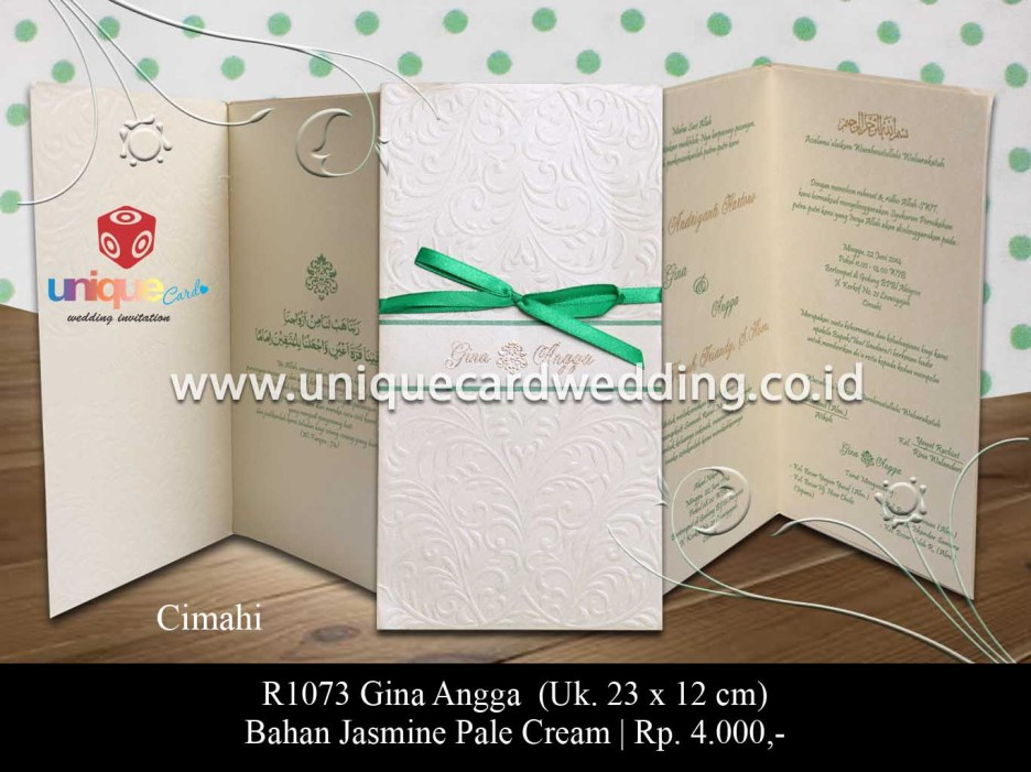 undangan pernikahan-Gina Angga