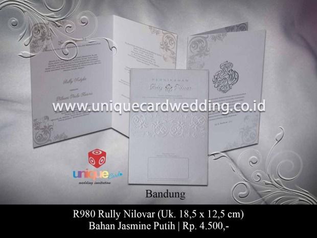 undangan pernikahan Rully Nilovar