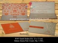 undangan pernikahan Sarah Deden
