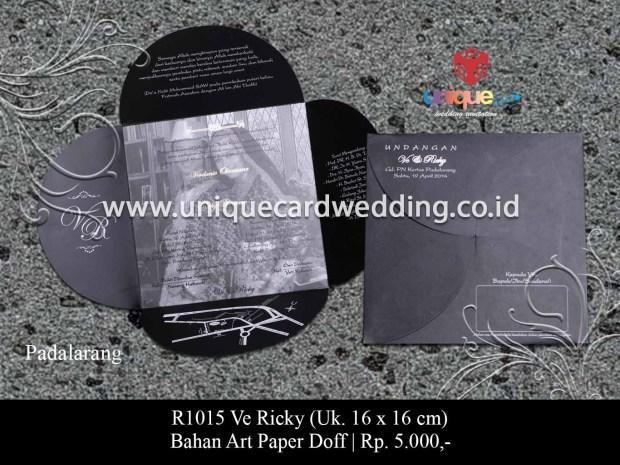 undangan pernikahan Ve Ricky