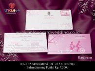 undangan perkawinan Andreas Maria
