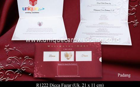undangan perkawinan Dicca Fazar