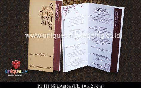 undangan pernikahan Nila Anton