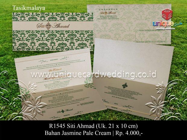 Undangan Pernikahan Siti Ahmad