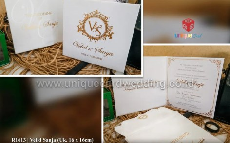 velid sanja wedding invitation