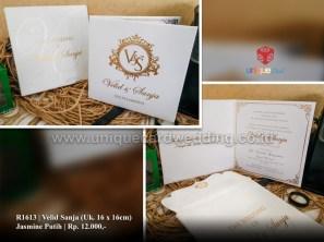 velid sanja wedding invitation