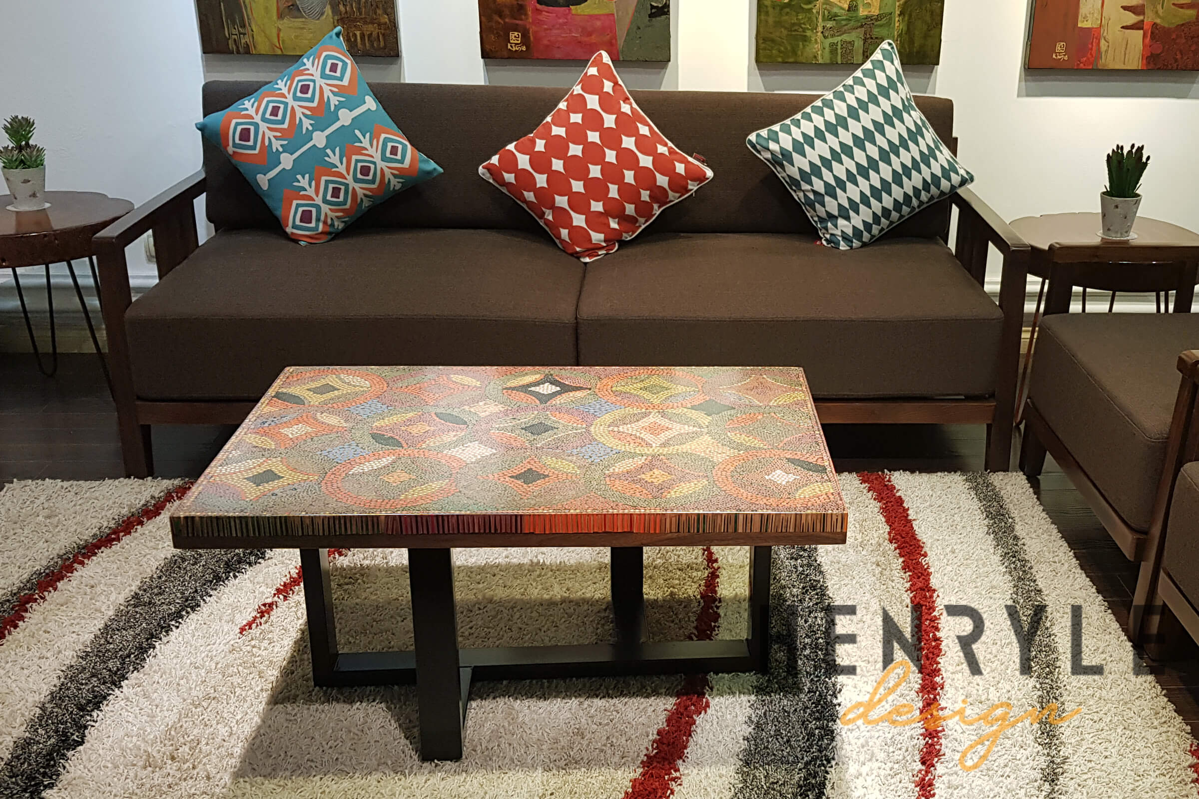 property colored pencil coffee table