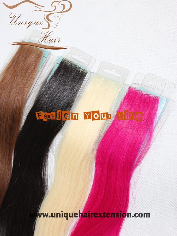 Invisible Tape Hair Extensions 100 Virgin Human Hair Hand