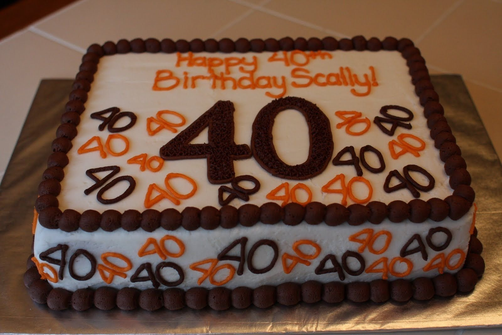 10 Stunning 40 Year Old Birthday Cake Ideas