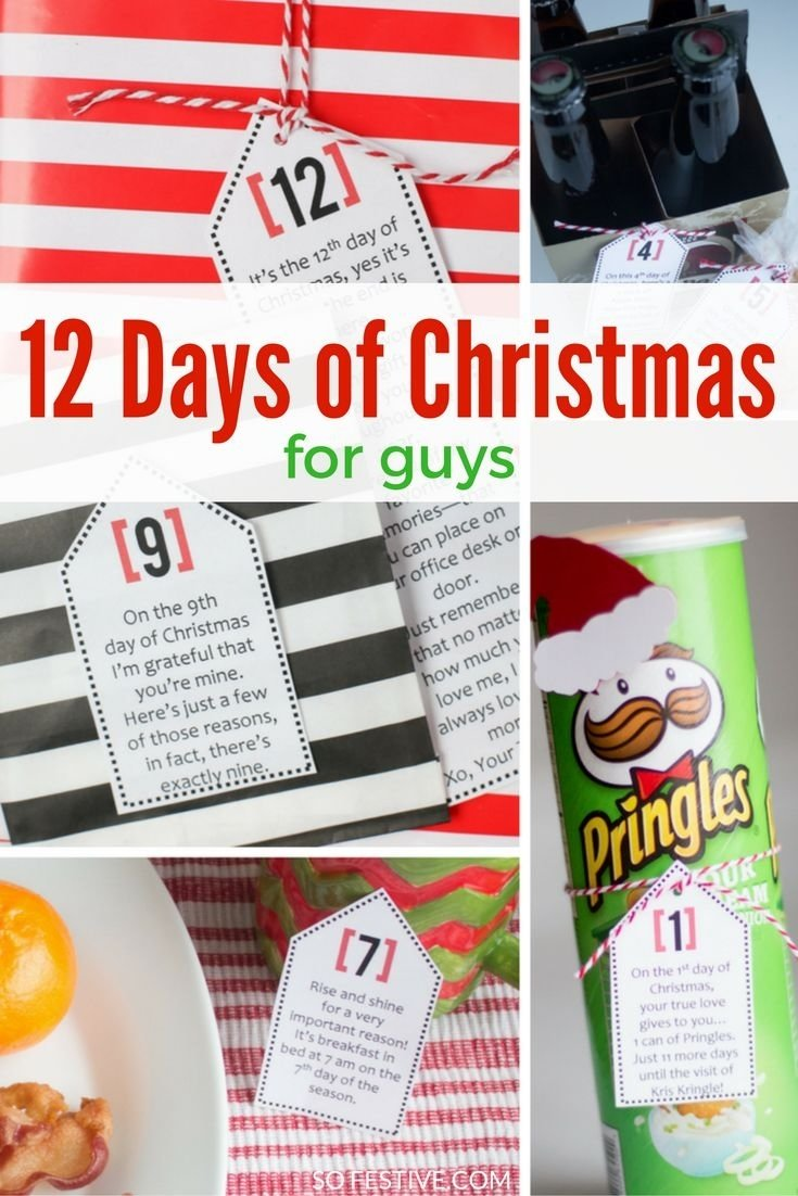 Gift ideas for the 12 days of christmas for boyfriend