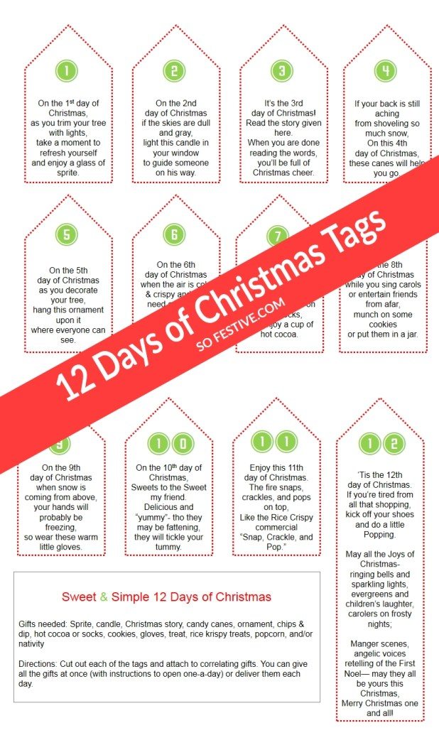 gifts in 12 days of christmas carol giftsite co - 12 Days Of Christmas Ideas