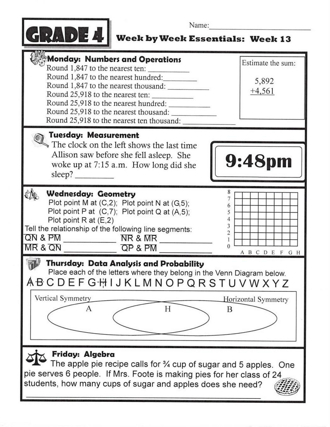 10 Attractive 4th Grade Main Idea Worksheets