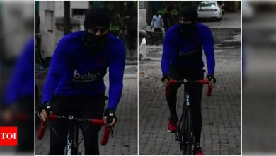Spotted: Ranbir Kapoor is shelling out major fitness goals as he steps out for a bicycle ride; view photos | Hindi Movie News