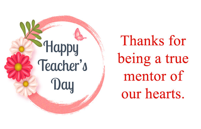 Teachers Day Image with Thank U Message