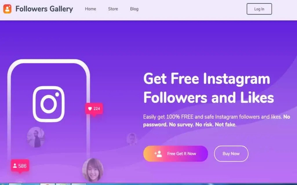 Get free and real Instagram followers and likes with Followers Gallery. It is very easy!