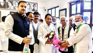 Shock to BJP before civic elections, Babulal Chaurasia joined Congress