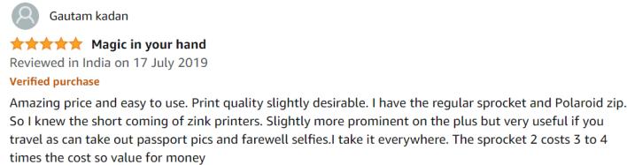 HP Sprocket Plus Customer Review (Best laser printer Under 5000)