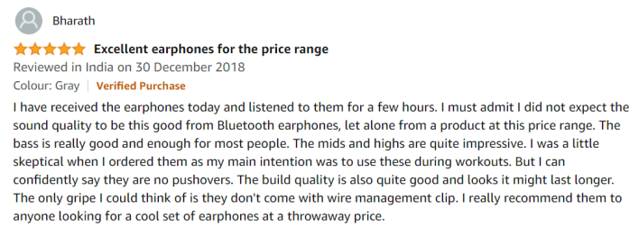 Customer Ratings for Boult Audio Probass Space