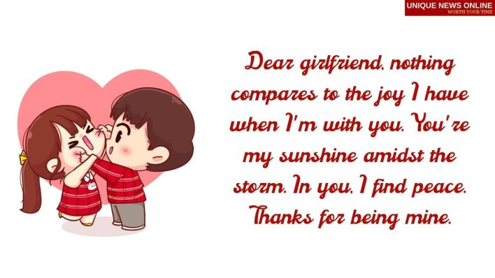 Sweet words for her