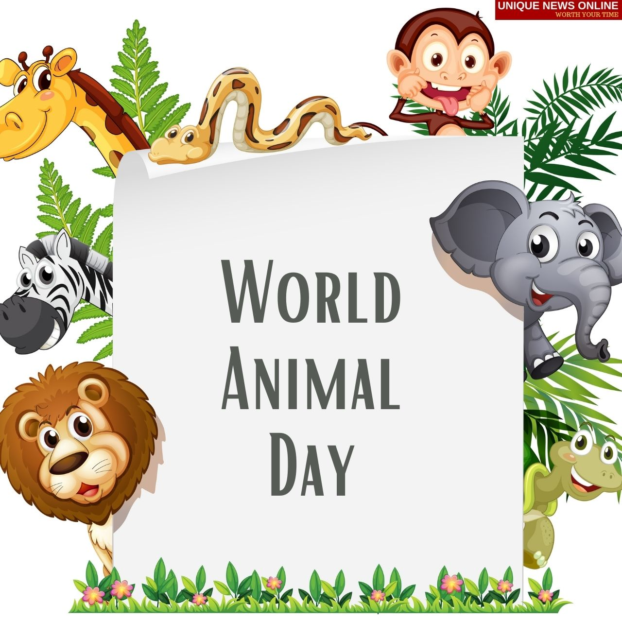 World Animal Day 2021 Quotes, Wishes, Poster, HD Images, and Messages to Create awareness