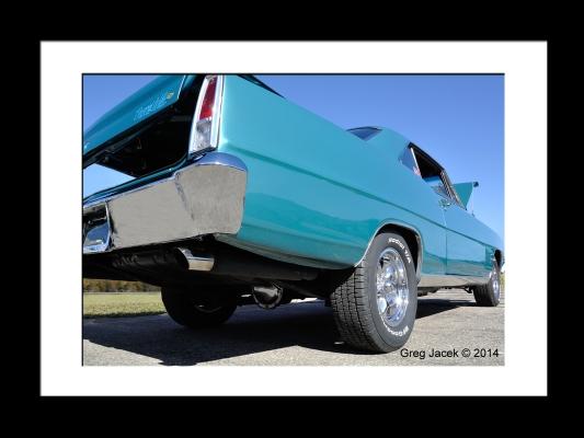 Blue Car Framed