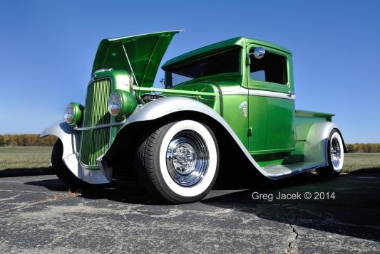 Green Truck Drivers Side