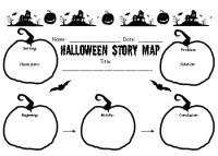 halloween story template