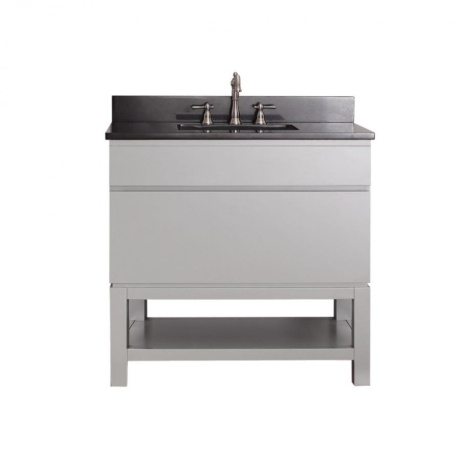 36 Inch Single Sink Bathroom Vanity With An Open Shelf