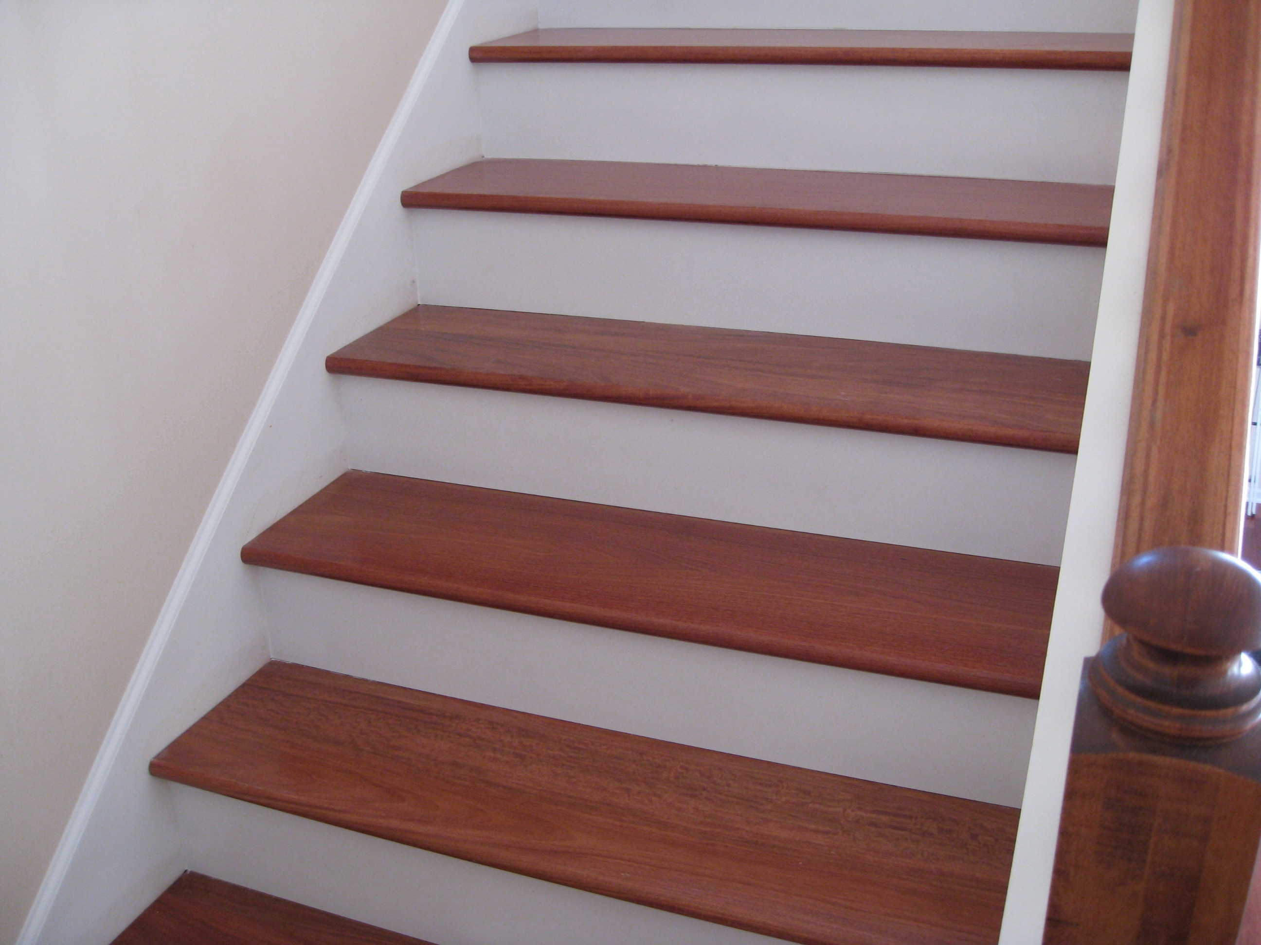 Upgrade Stair Treads And Risers With Hardwood Unique | Finished Wood Stair Treads