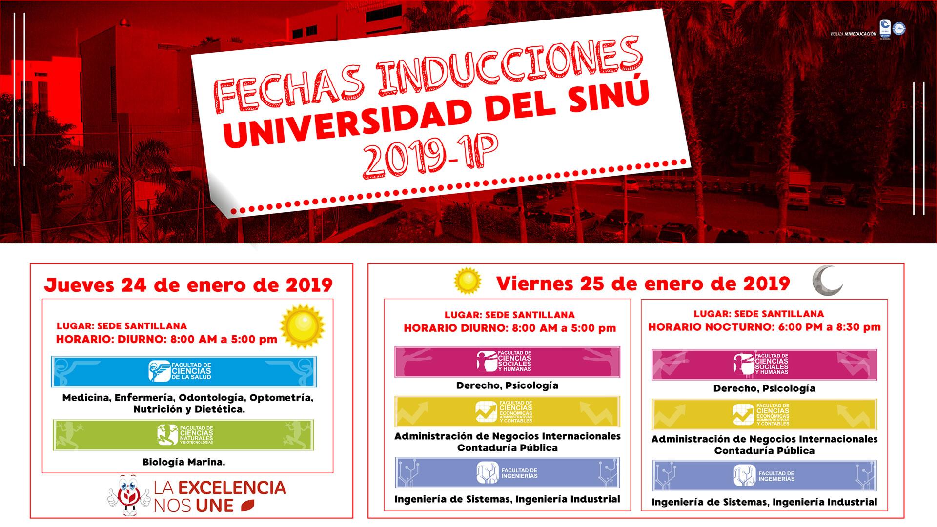 FECHAS-INDUCCIONES 2019 1P