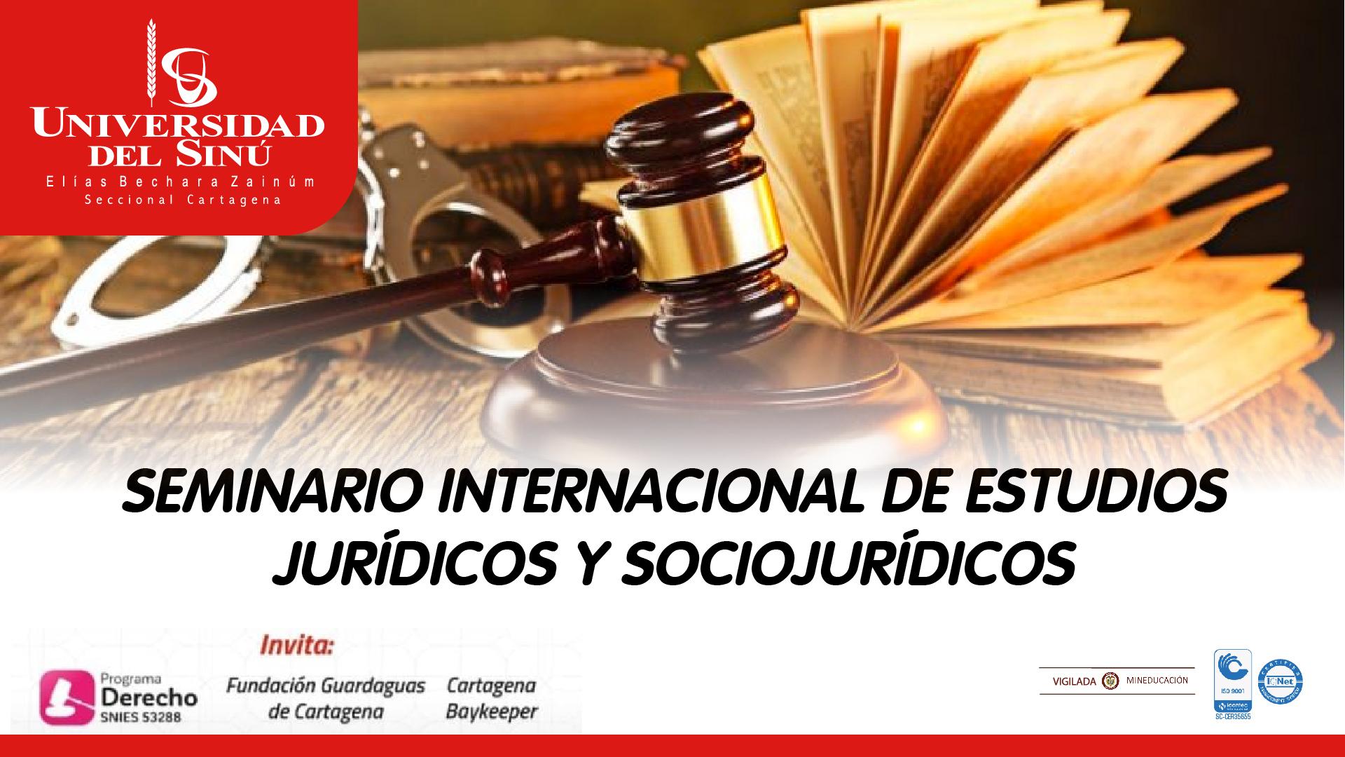 SEMINARIO INTERNACIONAL DE ESTUDIOS JURÍDICOS Y SOCIOJJURÍDICOS_Mesa de trabajo 1
