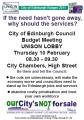 Lobby against the cuts 10 Feb