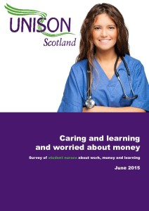 Caring and learning and worried about money - student nurses survey - June 2015