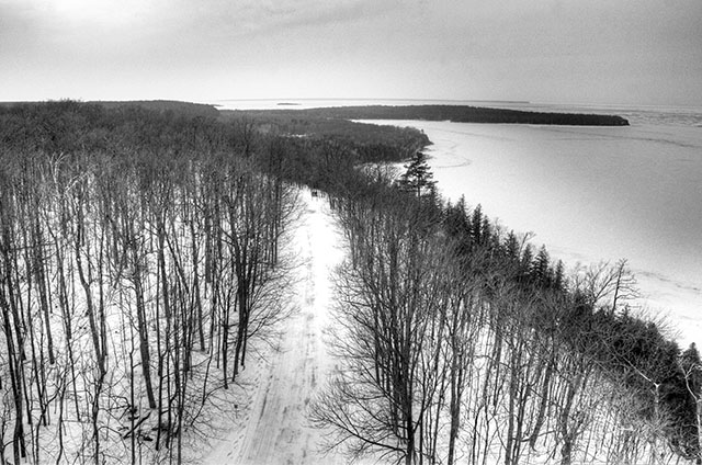 door county snow mobile trail