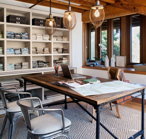 Industrial Chic Home Office