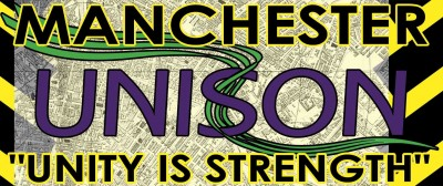 unison logo on manchester map background