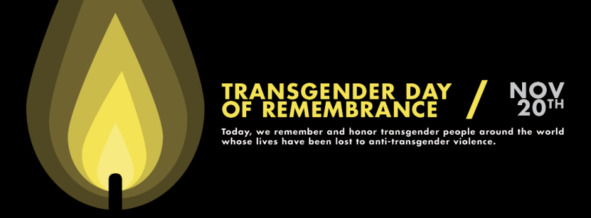 Image banner of Transgender Day of Remembrance.