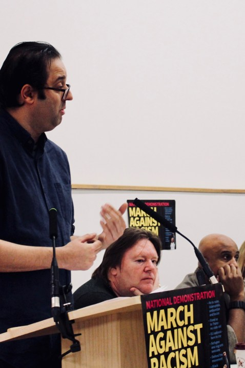 Photograph of Sam Gurney (Secretary, South East Region TUC) addressing trade unionists at the Stand Up To Racism - Trade Union Conference. (10.02.18)
