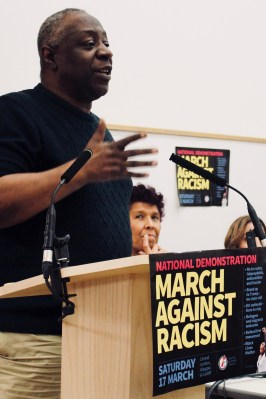 Photograph of Wilf Sullivan (TUC Race Equality Officer) addressing trade unionists at the Stand Up To Racism - Trade Union Conference. (10.02.18)