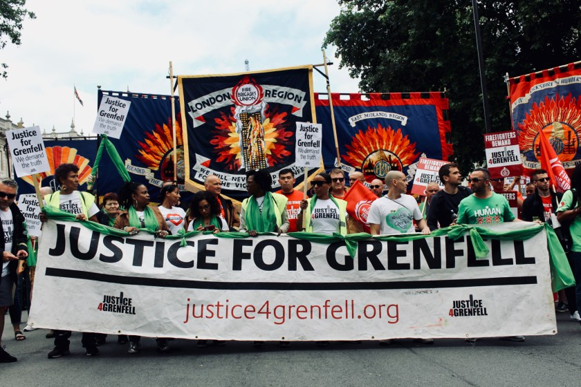 Photograph of One Year On: Justice for Grenfell Solidarity March on 16 June 2018.
